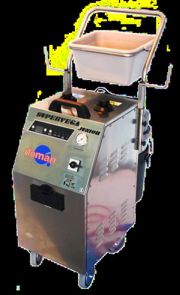 Supervega Junior - mit Kraftstrom betriebener Reiniger, auch als Twin-Version für 2 Arbeitsplätze